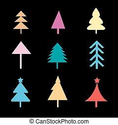 anders, set, si, bomen, kerstmis
