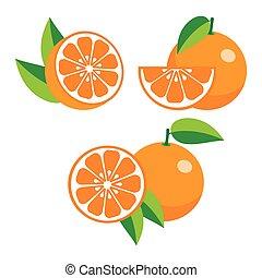 anders, verzameling, sinaasappel