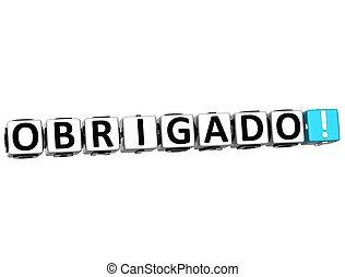 anders, woord, danken, velen, -, languages., u, obrigado