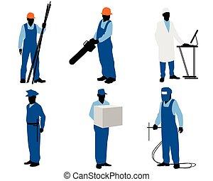 anders, zes, werkmannen