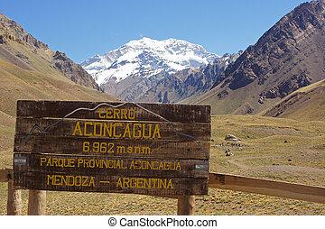 andes, argentina, montañas