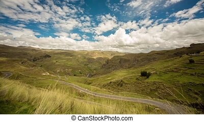 Andes landscape in Peru TIMELAPSE