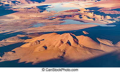 Andes Mountains Aerial Landscape Scene