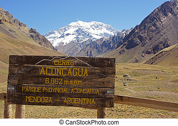 Andes Mountains, Argentina - NP Aconcagua, Andes Mountains,...