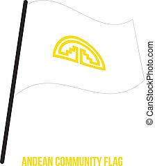 andino, flag., comunità, nazione, ondeggiare, fondo.,...