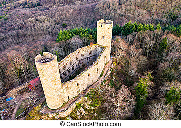 Andlau castle in the Vosges Mountains, France