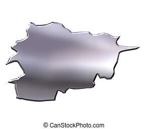 Andorra 3D Silver Map