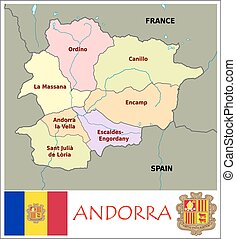 Monaco administrative divisions Administrative divisions vectors