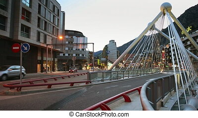 Andorra centre in the evening - Andorra centre city in the...