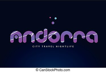 andorra european capital word text typography design