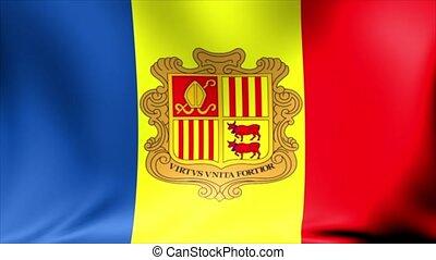 Andorra Flag. Background Seamless Looping Animation. 4K High...