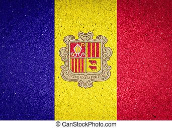 Andorra flag on paper background