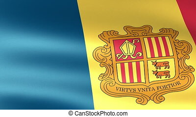 Andorra Flag Waving