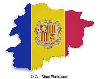 Andorra Map 3d Shape