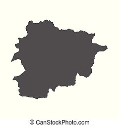 Andorra vector map. Black icon on white background.