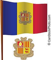 andorra vlag, golvend