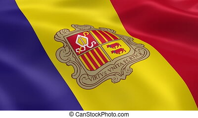 Andorran flag in the wind. Part of a series.