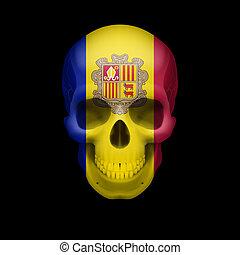 Andorran flag skull