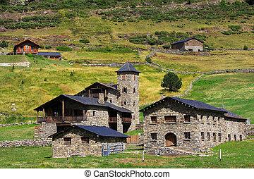 andorre, architecture, typique