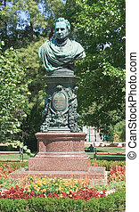Andreas Tselinka monument - the mayor of Vienna, initiated the construction of the Stadtpark, Vienna. Austria