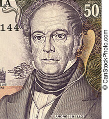 Andres Bello (1781-1865) on 50 Bolivares 1995 Banknote from...