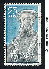 Andres Laguna - SPAIN - CIRCA 1967: stamp printed by Spain,...