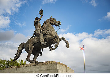 Andrew Jackson Statue in New Orleans, LA USA