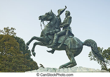 Andrew Jackson statue in Washington DC, USA