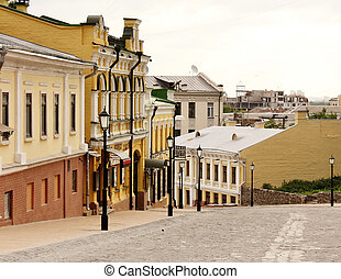 Historic street, one of the oldest ways of connecting the Upper Town, the shopping district Podol