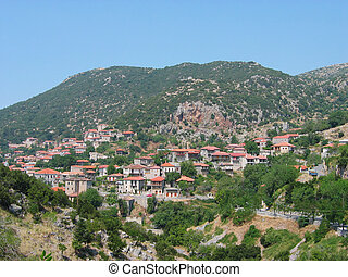 Andritsaina town in Peloponnese Greece