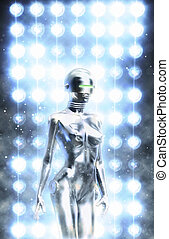androïde, robot, femme