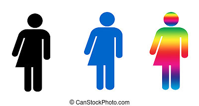 Androgyny or Transgender symbols - a set of three symbols...