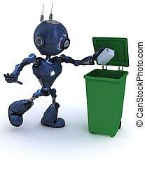 android , ανακύκλωση , σκουπίδια