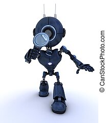 android , ελέγχω , με , ένα , μεγεθυντικός φακός