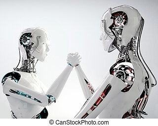android, maenner, roboter