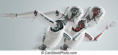 android, robô, competição