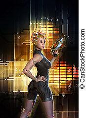 Dieselpunk Girl Science Fiction Dieselpunk Girl And Art
