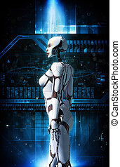 android robot girl