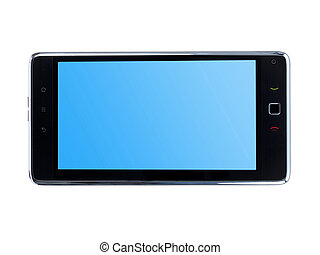 An android tablet isolated against a white background