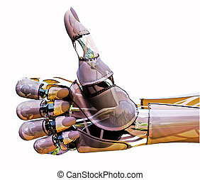 Android Thumbs Up - Isolated 3d robotic hand