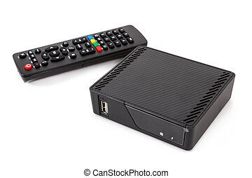 Android TV set top box receiver with remote controler ...