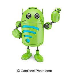android, wifi, símbolo