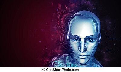 android, zukunftsidee, weibliche
