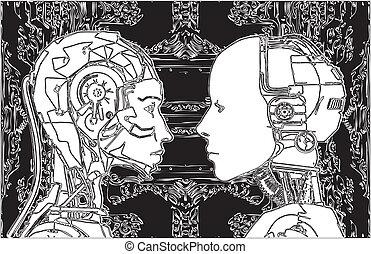 androids, faça, não, concorde, de, tecnologia