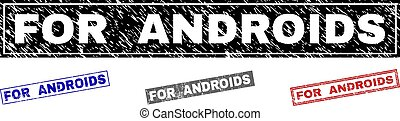 androids, francobolli, grunge, rettangolo, textured