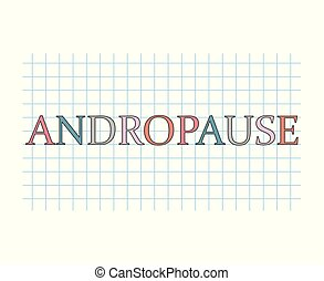 andropause concept- vector illustration