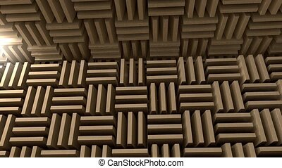 Anechoic chamber - Sound proof room, anechoic chamber.