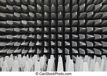 Anechoic electromagnetic or sound chamber - Anechoic wall ...