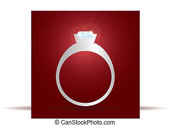 anel acoplamento, com, diamante, eps10