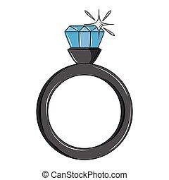 anel, diamante, casório
